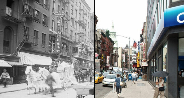До и после: старинные фотографии Нью-Йорка пересняли с того же ракурса
