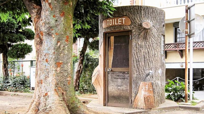 toilet back