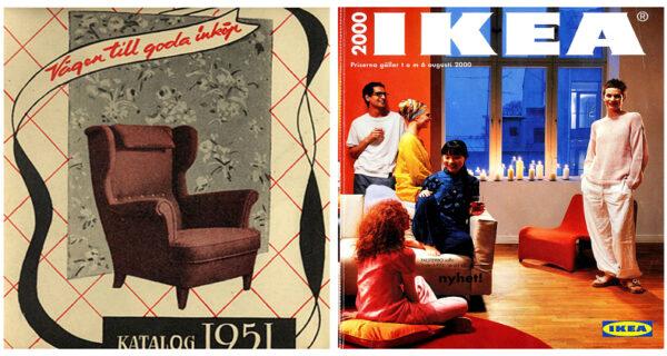 История домашнего дизайна во всей своей красе: каталоги IKEA с 1951 по 2000год
