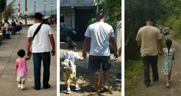 Это так трогательно! Филиппинка четыре года тайно фотографировала мужа с дочкой