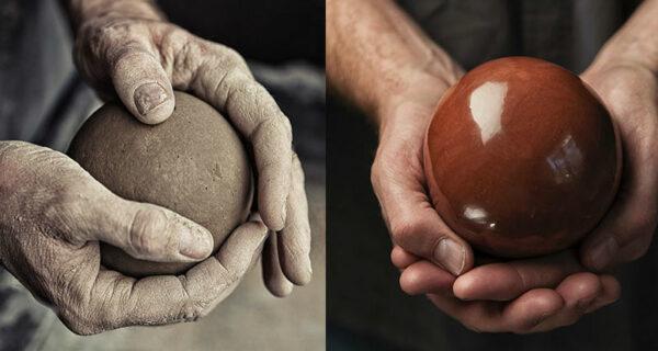 В Японии добрались до грязи: японцы полируют до идеального блеска шары изземли