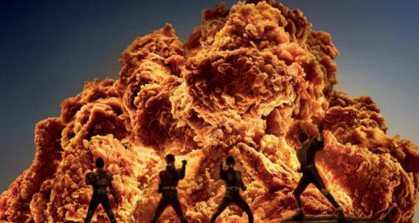 Курица — огонь! KFC показала, как сильно острые стрипсы похожи на взрывы