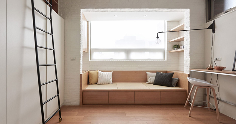 Как выжать максимум из минимума пространства: полнофункциональная квартира на Тайване площадью 22 м