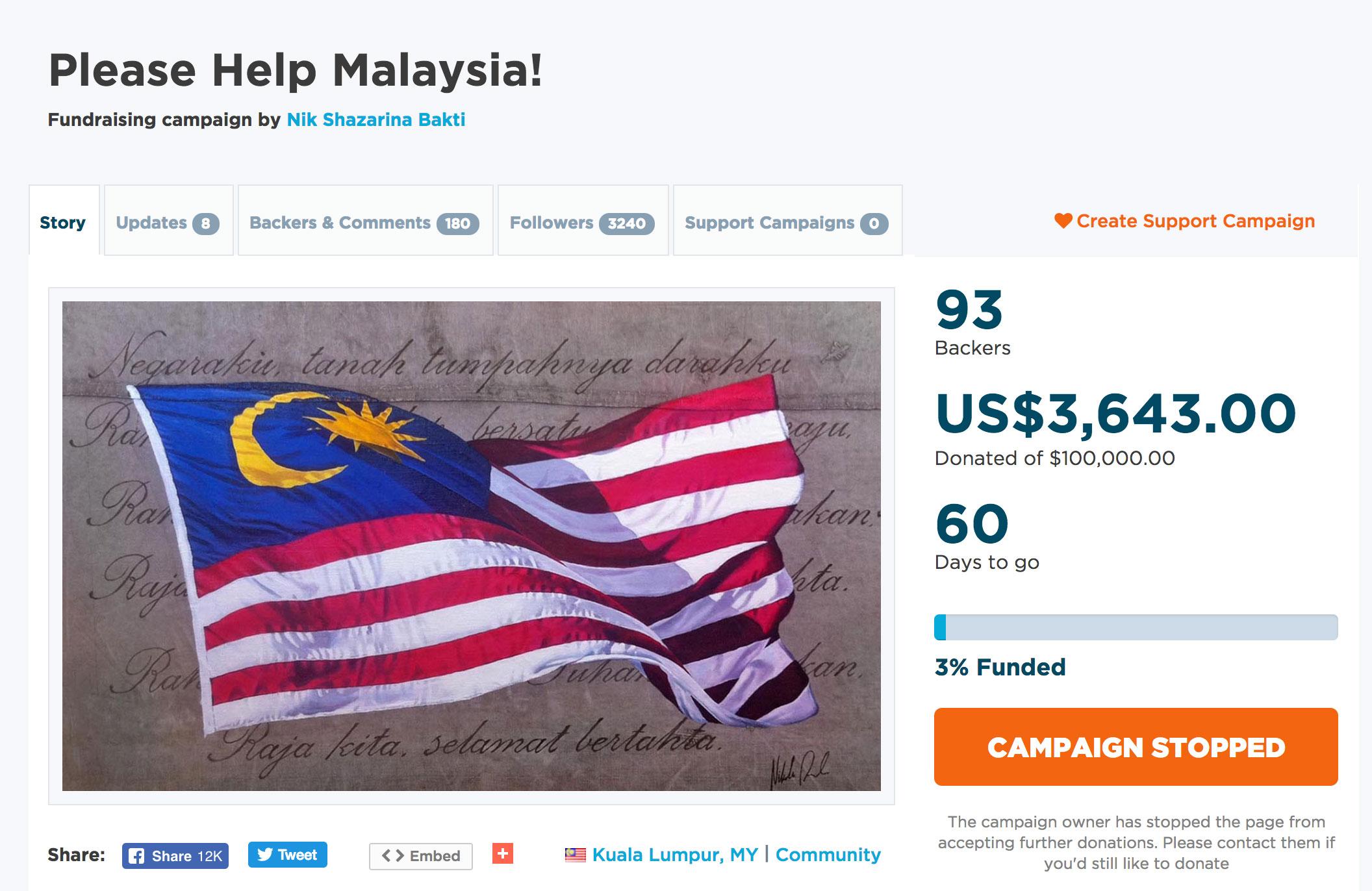 А так можно было? Жители Малайзии скинулись и за день собрали 3 млн долларов на оплату госдолга долларов, составляет, более, собрала, последние, сутки, кампанию, собрать, государственный, миллиона, средства, власти, госдолг, миллиардов, Малайзии, внимание, «Фонд, активно, начали, малайзийцы