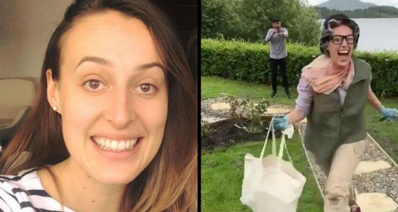 «Теперь ты водишь»: американка прилетела в Шотландию, чтобы осалить парня