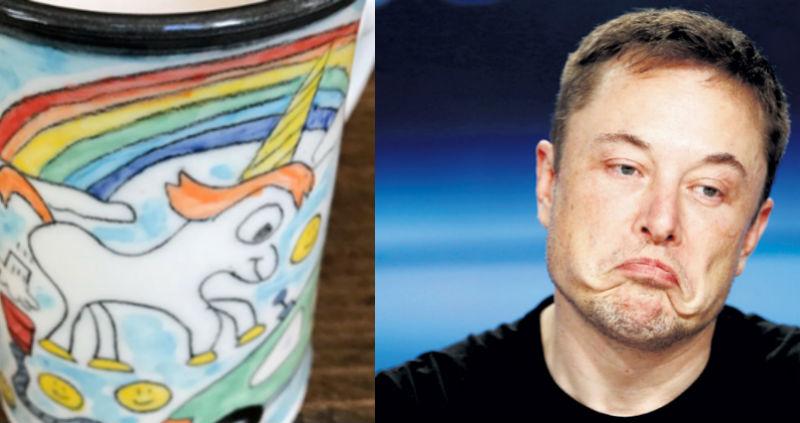 Илона Маска обвинили в краже изображения пукающего единорога