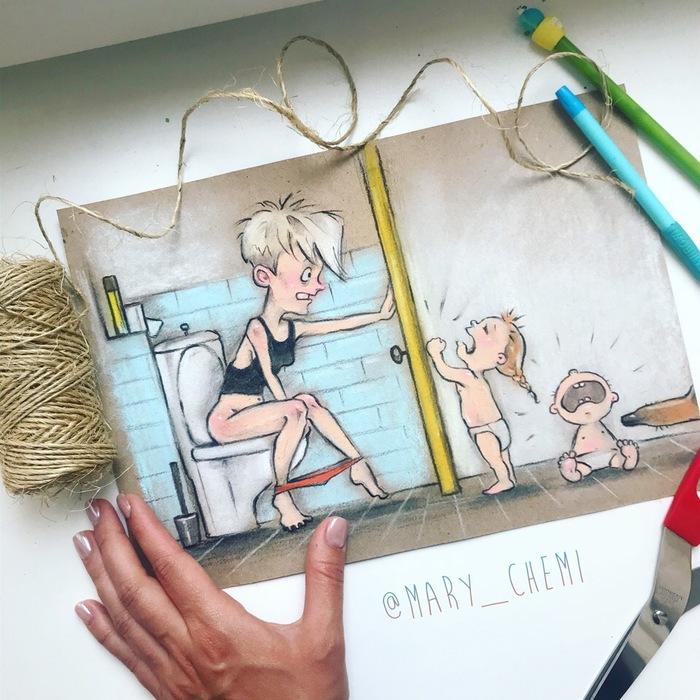 10 потрясающих рисунков про будни российской мамы фото