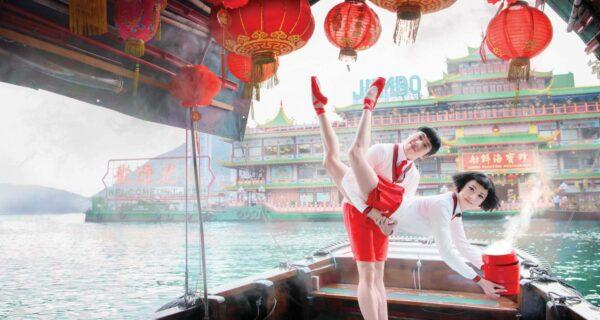 Рекламные постеры, на которых гонконгские танцоры бросают вызов гравитации