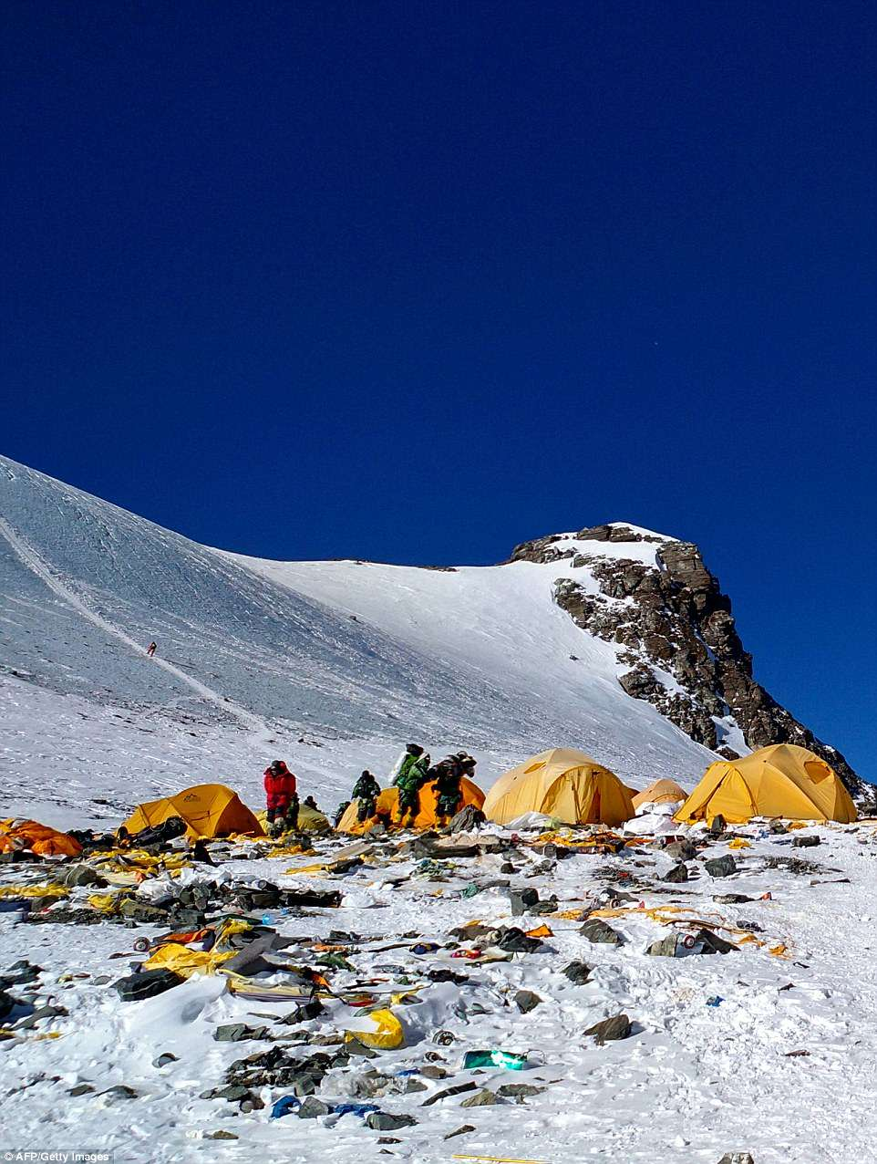 As Everest was turned into the highest mountain garbage, Everest, which, garbage, climbers, dollars, around, hire, which, the top, which, climbing, height, this, people, to, back, power, tents, also