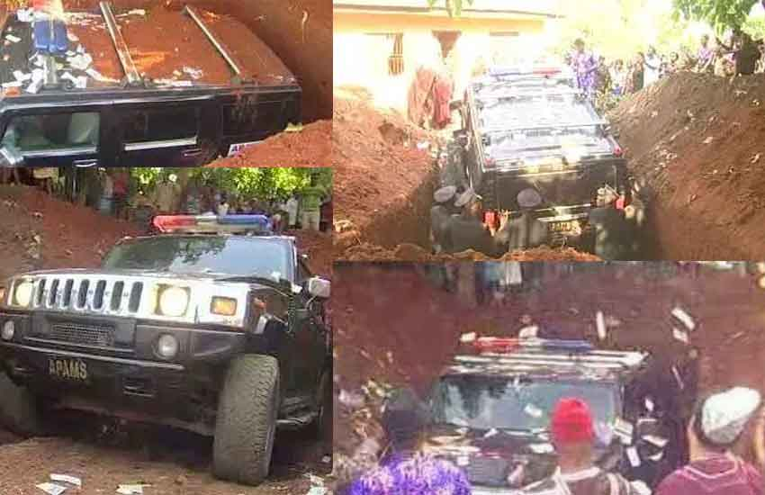 Beha for Bati: Nigerian buried his father in a luxury SUV instead of a casket
