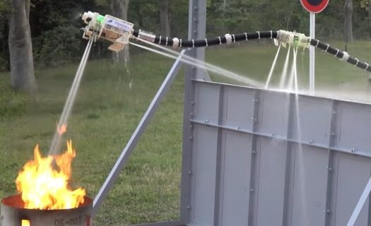В Японии создали летающего робота-пожарного