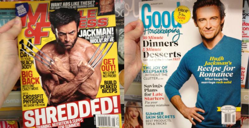 «Волосатый мускулистый»: Reddit показали разницу между мужским и женским вкусом на Хью Джекмане