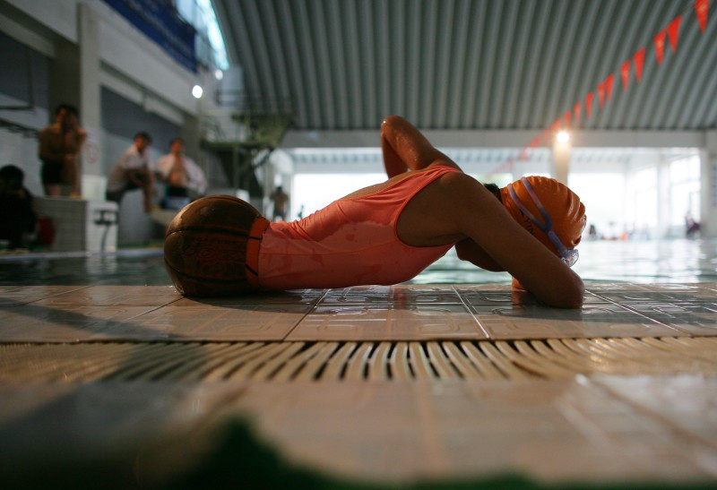 Disabled Ten-Year-Old Girl Learns To Swim