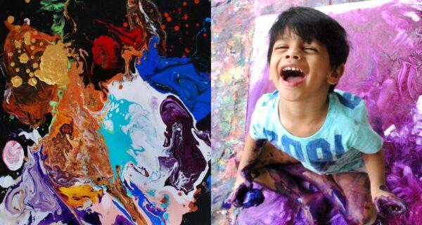 4‑летний вундеркинд из Индии пишет картины, которые продаются за тысячи долларов