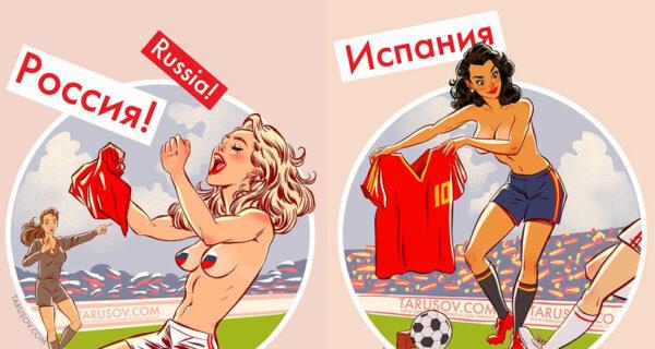 Футбольный пин-ап-календарь: «Российская футболистка самая голая, потому что сильнее всех радуется победе!»