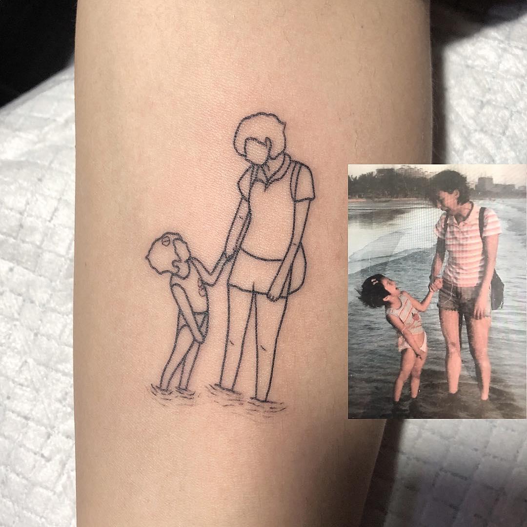 фото тату контуры фотографий настоящей мучнистой