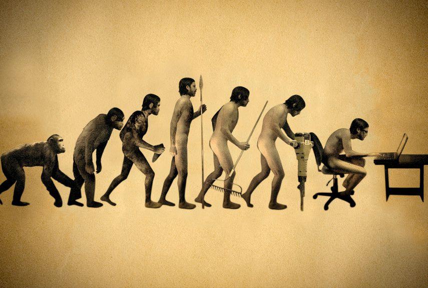 Надписями карим, прикольная картинка эволюции человека