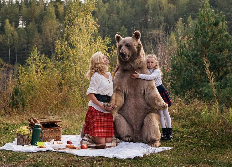 Bear Stepan – the living embodiment of stereotypes about Russia