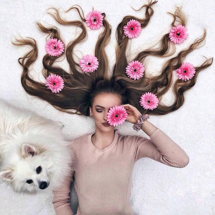 long hair flat lay photos krissy elisabeth 1