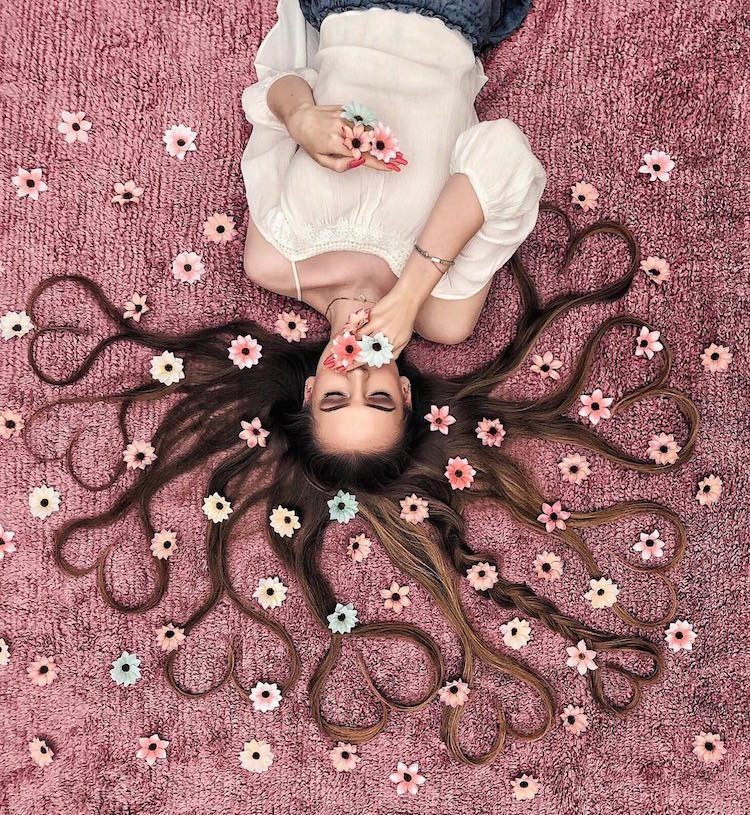 long hair flat lay photos krissy elisabeth 10