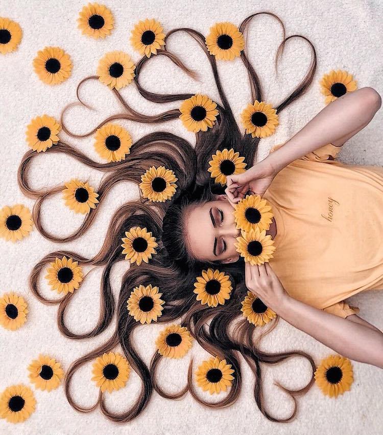long hair flat lay photos krissy elisabeth 15