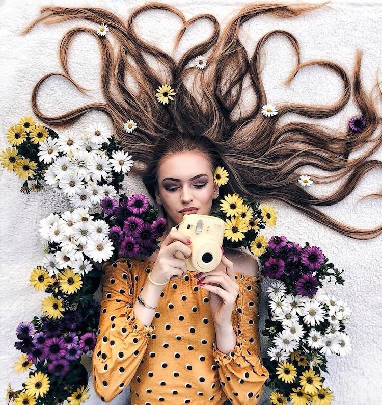 long hair flat lay photos krissy elisabeth 2