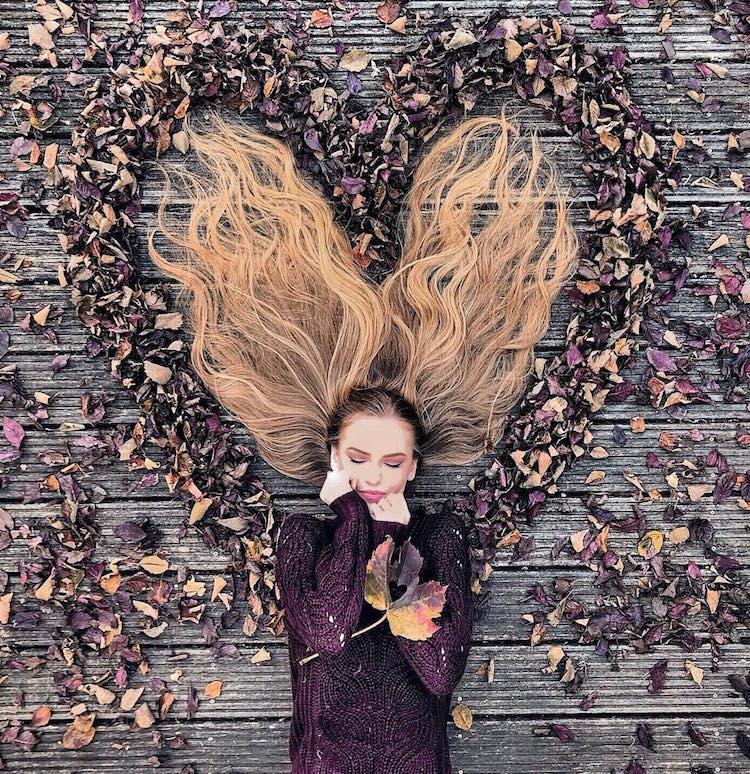 long hair flat lay photos krissy elisabeth 24