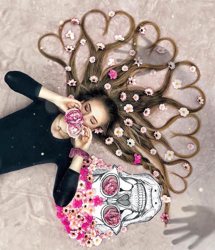 long hair flat lay photos krissy elisabeth 26
