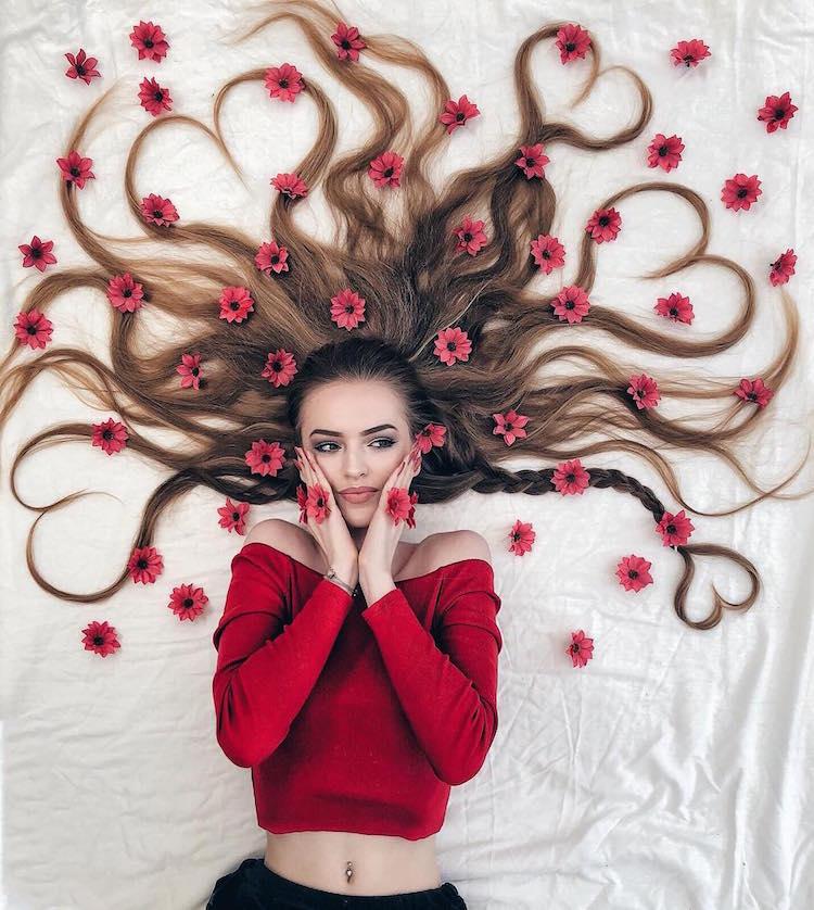 long hair flat lay photos krissy elisabeth 4