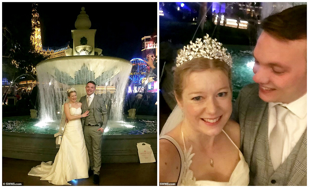 Wedding quick cooking: a British couple got married in Vegas on a first date