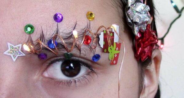 Губки бантиком, бровки елочкой: пользователи Instagram вместо елок украшают своиброви