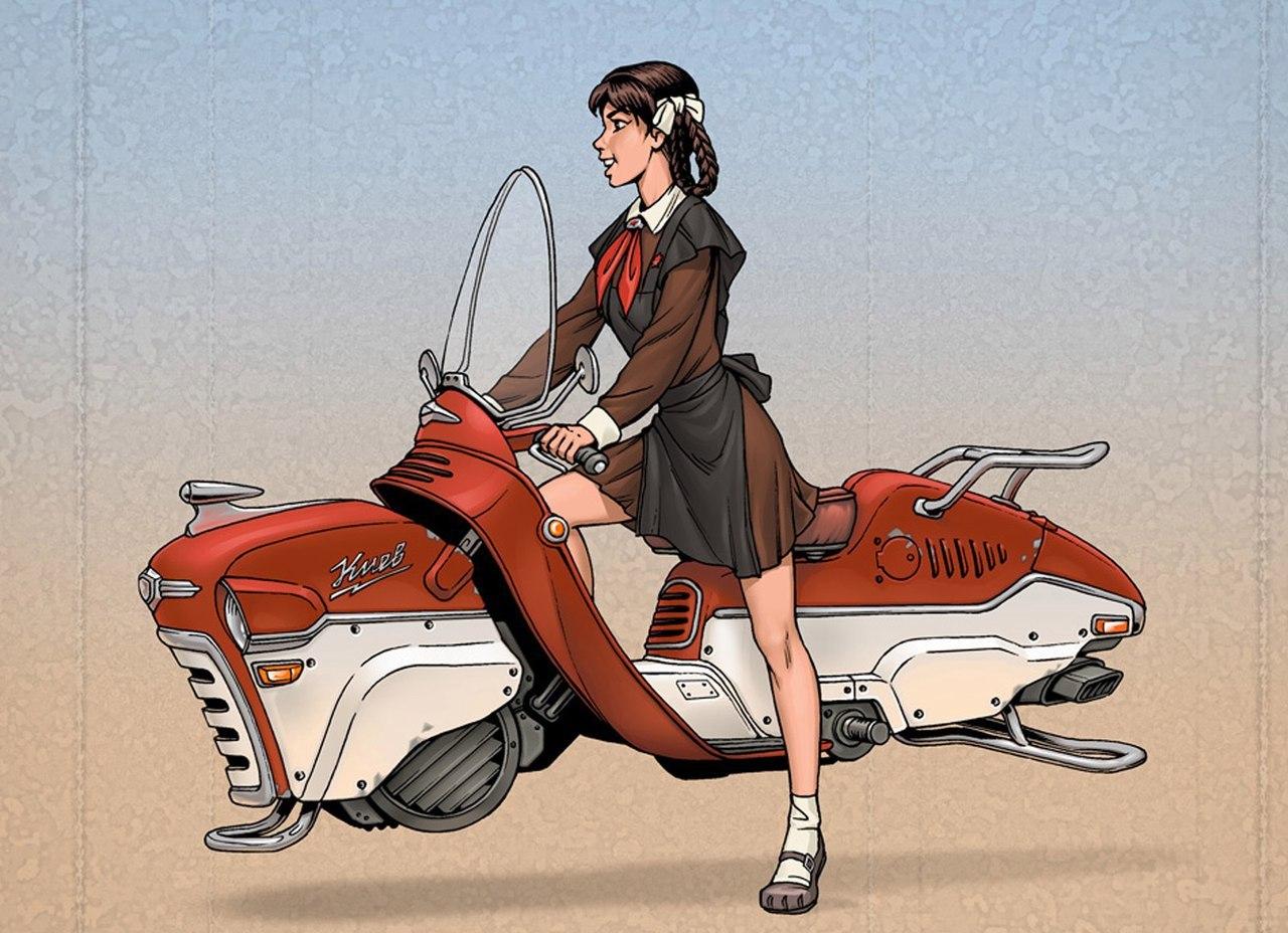 Советский дизельпанк: рисунки талантливого комикс-художника Алексея Липатова фото