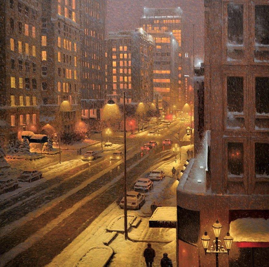 16 уютных снежных картин, которые дарят тепло