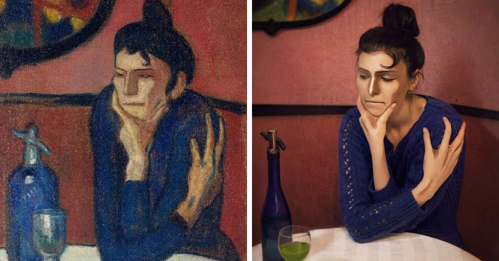 Пользователи сети воссоздают картины без кисти и красок, показывая свой взгляд на шедевры прошлого