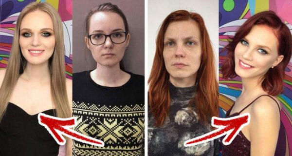 Когда макияж и прическа действительно творят чудеса: 20 удивительных преображений