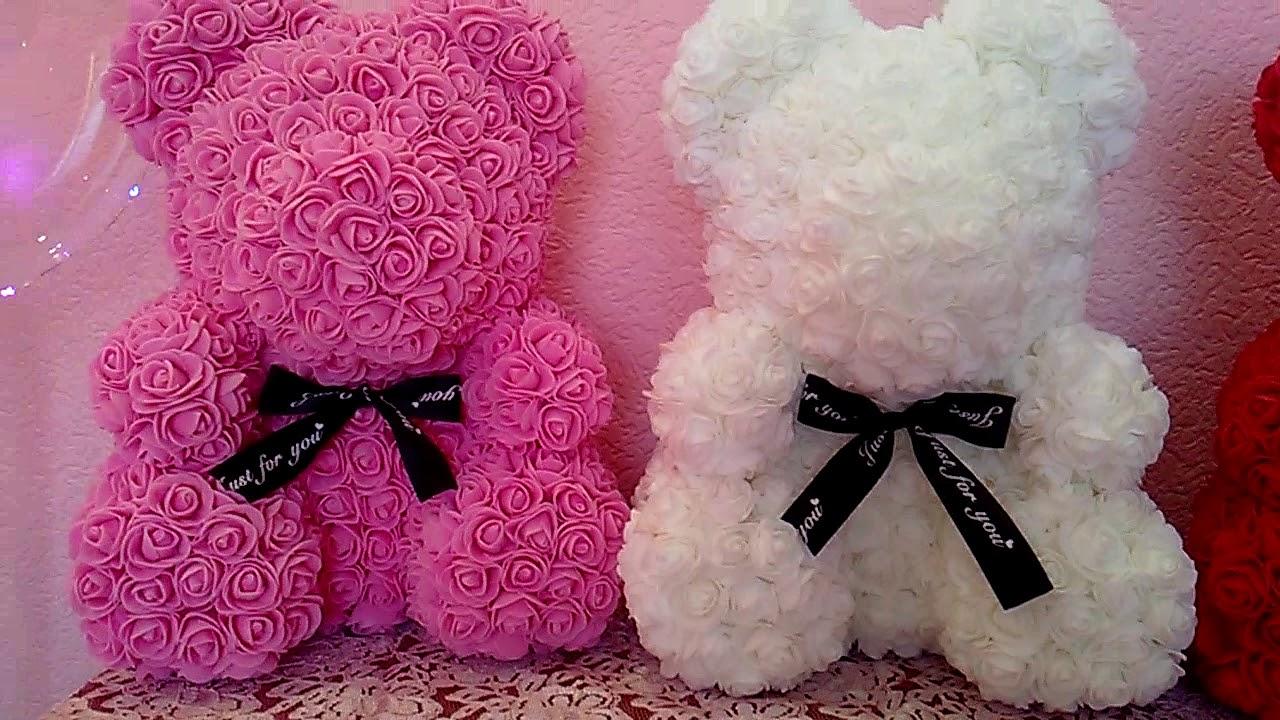 «Мишка из роз»: откуда к нам пришел этот модный подарок и как сделать его самостоятельно фото