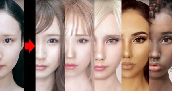 Визажист из Японии научилась изменять расу человека