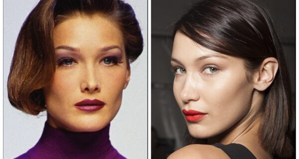 Как две капли воды: Белла Хадид и Карла Бруни похожи друг на друга, словно близняшки