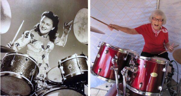Жизнь в зажигательном ритме: первой женщине-барабанщице стукнуло 106лет