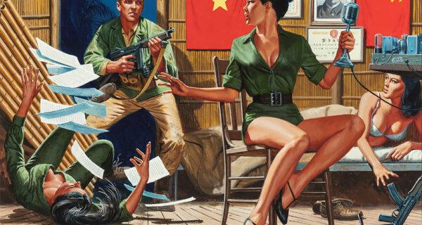 Гремучая смесь: шпионы, красотки, нацисты и герои на потрясающих иллюстрациях Морта Кунстлера
