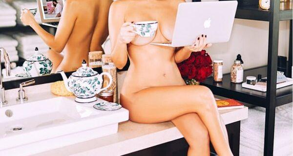 Тело — в дело: Кортни Кардашьян снялась обнаженной для рекламы собственного бизнес- проекта