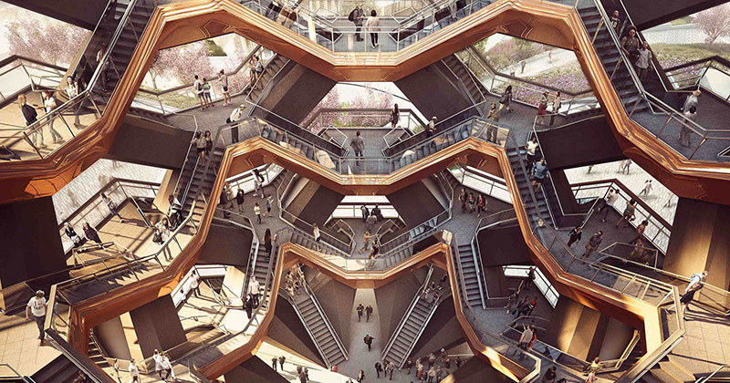 Грандиозная лестница, ведущая в никуда: в Нью-Йорке появилась новая достопримечательность путеествия, путешествие и отдых