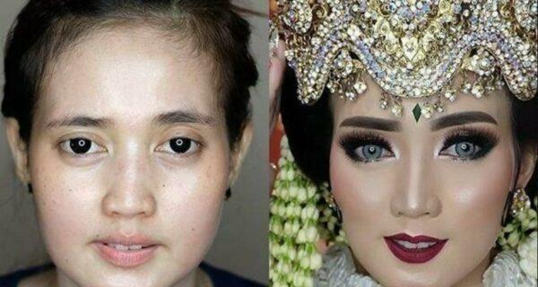 Чудеса свадебного макияжа: азиатские невесты до и после мейкапа выглядят, как разные люди