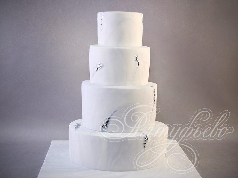 Белый свадебный торт. Артикул: 040328