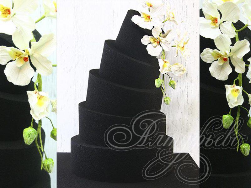 Черный свадебный торт. Артикул: 1510127