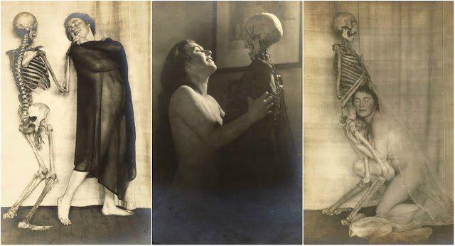 Дама со скелетом: сюрреалистический фотосет Франца Фидлера начала 1920-х годов фото