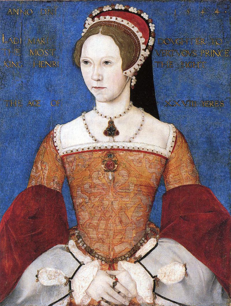 800px Mary I by Master John - История «Кровавой Мэри» — первой королевы Англии Марии Тюдор