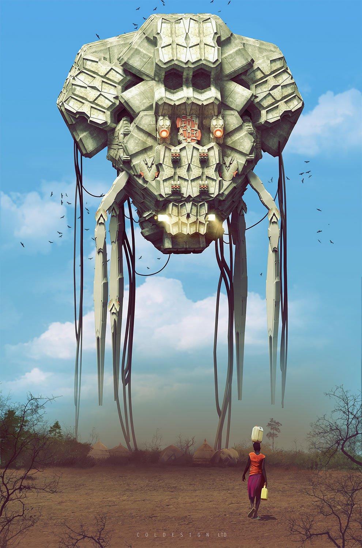 Футуризм в цифровой графике: фантастические иллюстрации британского концепт-художника Кол Прайса