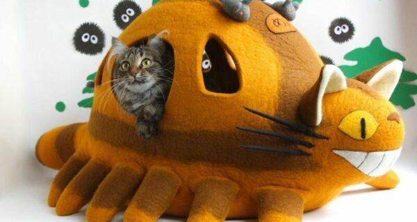 16 забавных кошачьих домиков из фетра от украинских мастеров MeowFelt