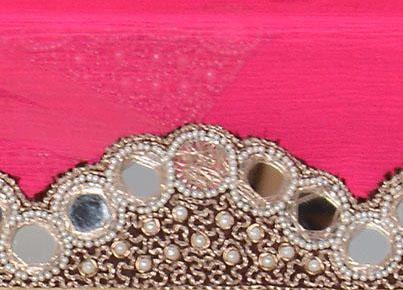 Зеркальца на полотне индийского сари